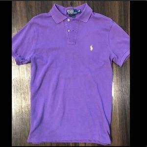 RALPH LAUREN Mens Medium Custom Fit Purple Polo